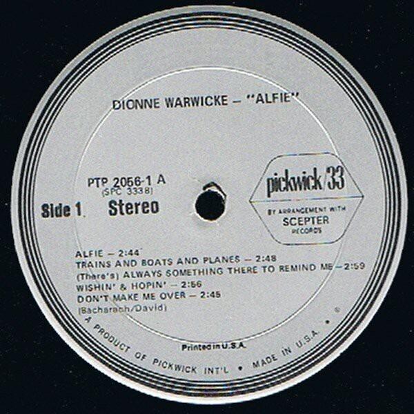 Dionne Warwick Alfie