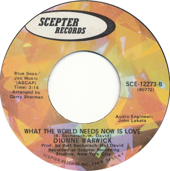 #<Artist:0x00007fcea57e7270> - I'll Never Fall In Love Again / What The World Needs Now Is Love
