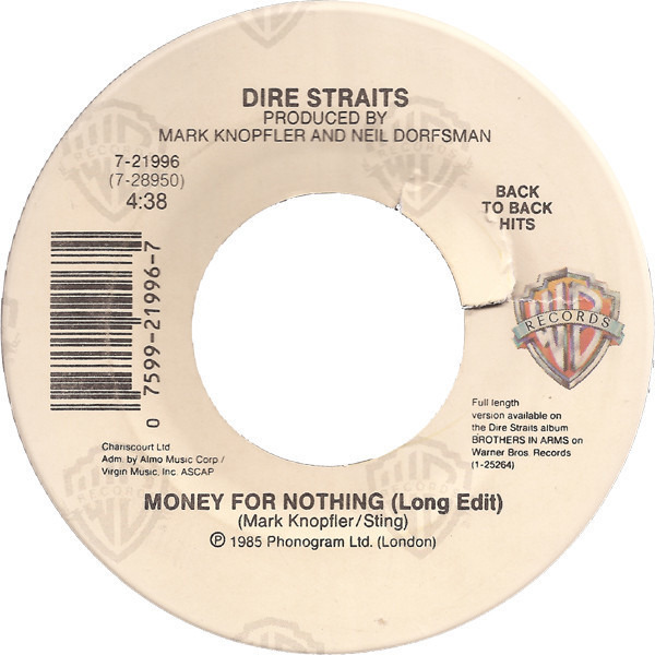 Dire Straits - Money For Nothing (long Edit / Twisting By The Pool)