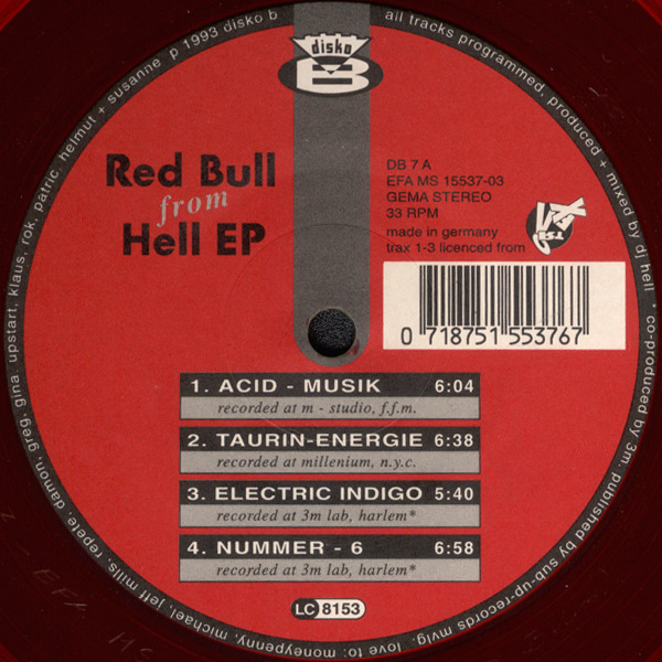 #<Artist:0x00007f6f9cef80b8> - Red Bull From Hell EP