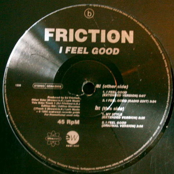DJ FRICTION - I Feel Good - Maxi x 1