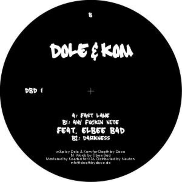 Dole & Kom Fast Lane (PROMO, STICKERED WHITE LABEL!)