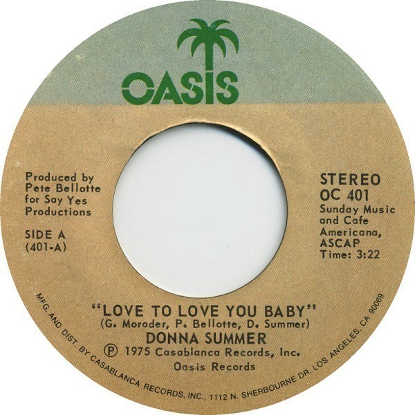 Donna Summer Love To Love You Baby / Need-A-Man Blues