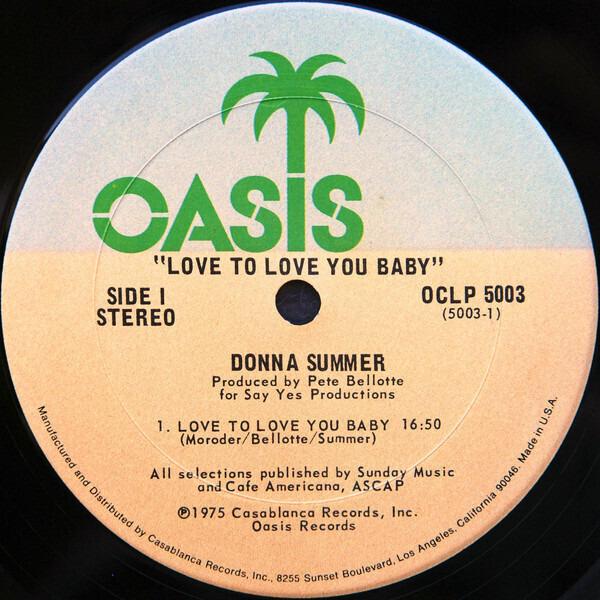 Donna Summer Love To Love You Baby (SANTA MARIA PRESSING)