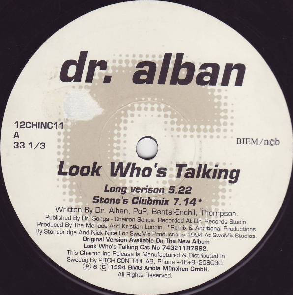 dr. alban look who's talking