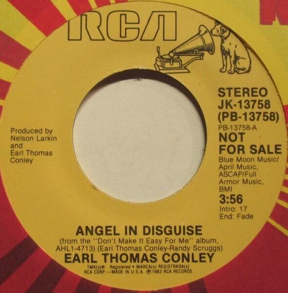 Earl Thomas Conley LYRICS - Angel In Disguise Lyrics