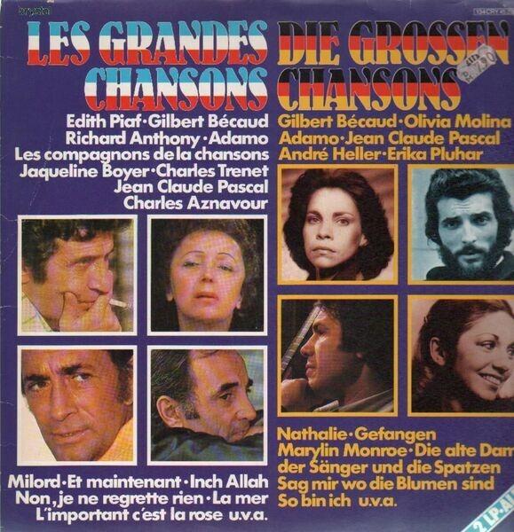 Edith Piaf, Gilbert Becaud, Richard Anthony, Adamo Les Grandes Chansons /  Die Großen Chansons (GATEFOLD)