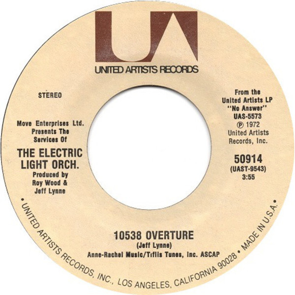 electric light orchestra 10538 overture