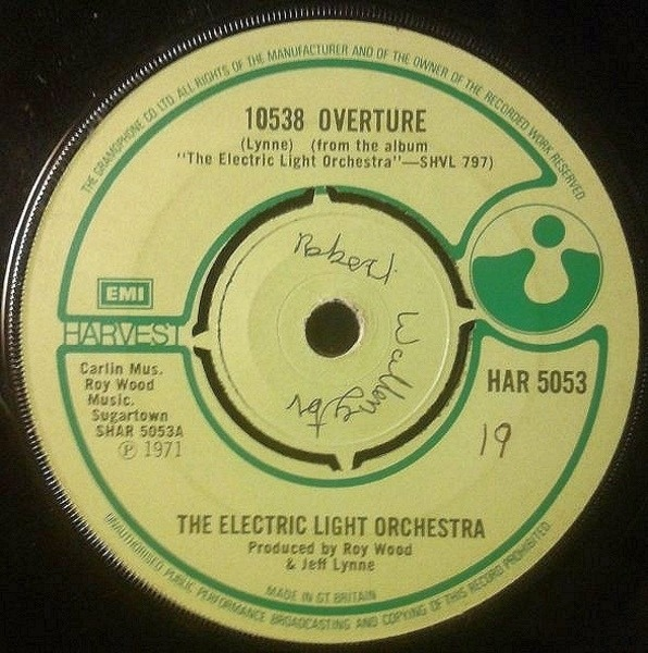 Electric Light Orchestra 10538 Overture (PUSH-OUT CENTRE)