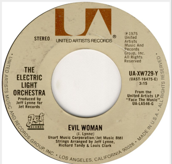 electric light orchestra evil woman / 10538 overture