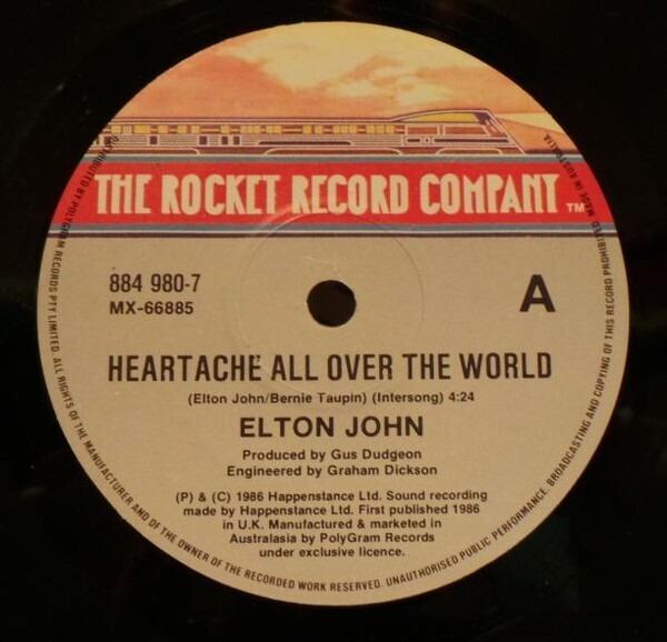 Elton John Heartache All Over The World