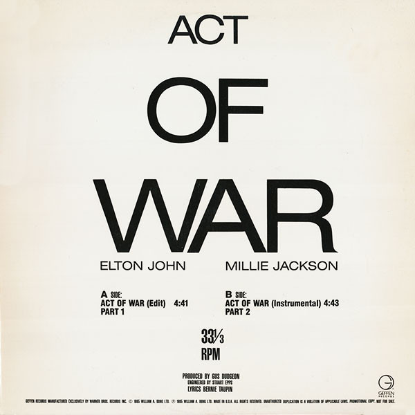#<Artist:0x007f4838f47b58> - Act Of War