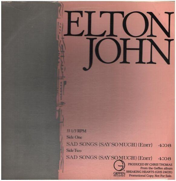 Elton John Sad Songs (Say So Much) (PROMO)