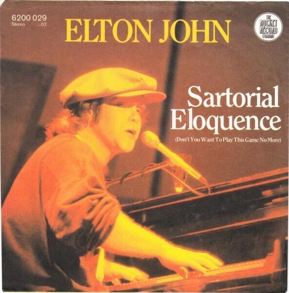 Elton John Sartorial Eloquence