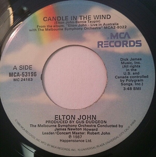 Elton John Candle In The Wind