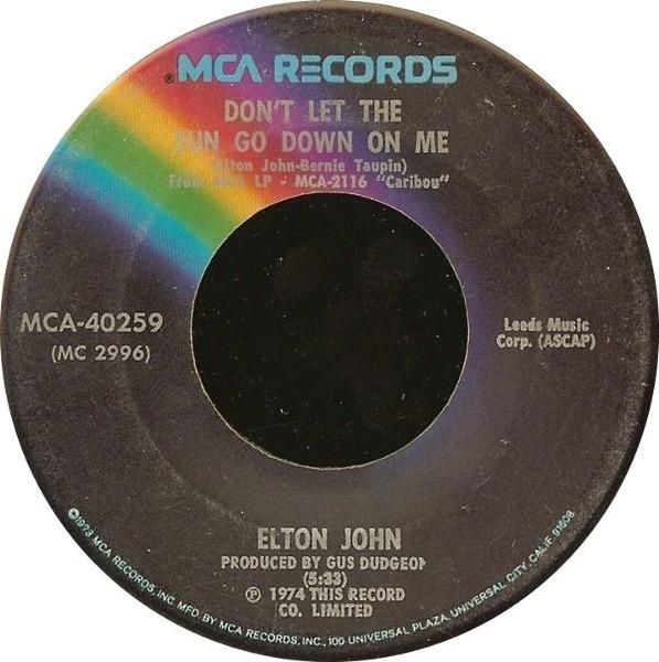 Elton John Don't Let The Sun Go Down On Me / Sick City