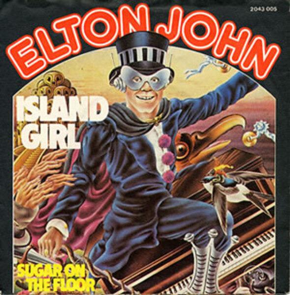 Image result for ISLAND GIRL ELTON JOHN SINGLE IMAGES