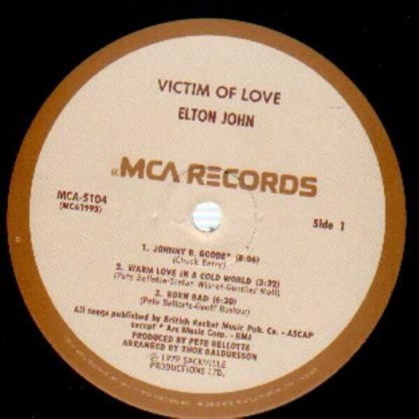 Elton John Victim Of Love