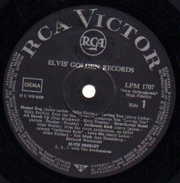 #<Artist:0x00007f41750caba8> - Elvis' Golden Records Volume 1