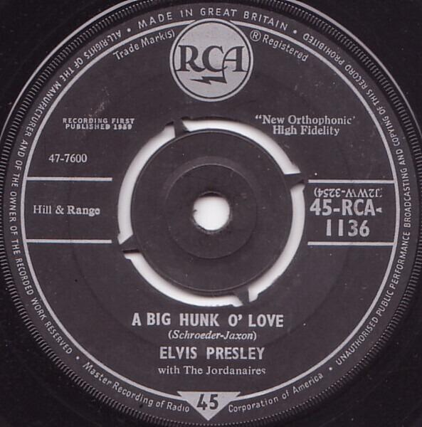 #<Artist:0x007faf3f62f728> - A Big Hunk O' Love
