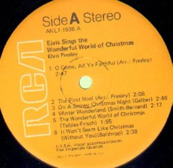 #<Artist:0x007f816b2b7160> - Elvis Sings the Wonderful World of Christmas