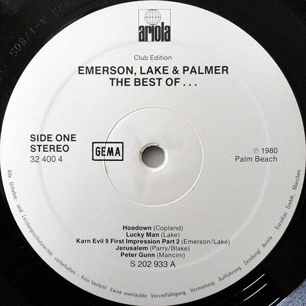 Emerson, Lake & Palmer The Best Of Emerson Lake & Palmer