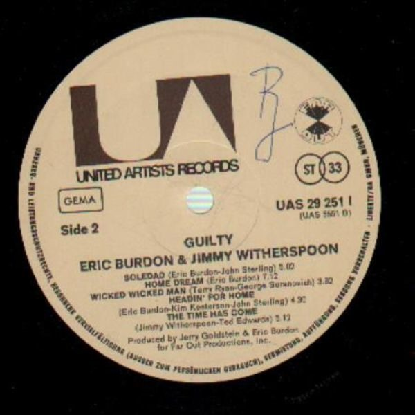 Jimmy Witherspoon & Eric Burdon Guilty (GATEFOLD)