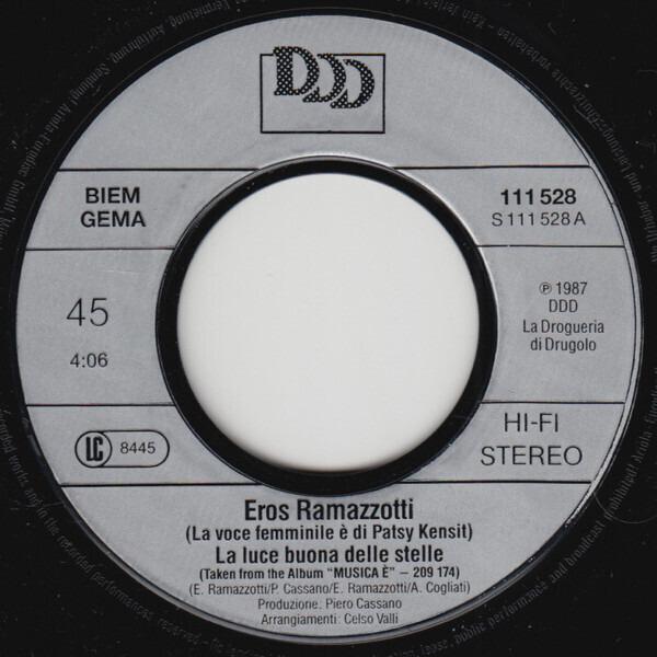 Eros Ramazzotti Featuring Duet With Patsy Kensit La Luce Buona Delle Stelle