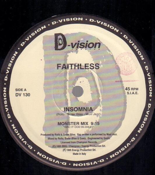 FAITHLESS - Insomnia - Maxi x 1