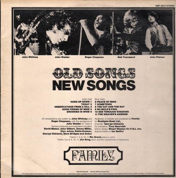 Family Old Songs New Vinyl Records LP CD On CDandLP