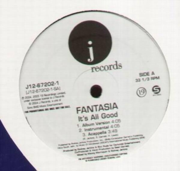 FANTASIA - Its All Good (PROMO) - Maxi x 1