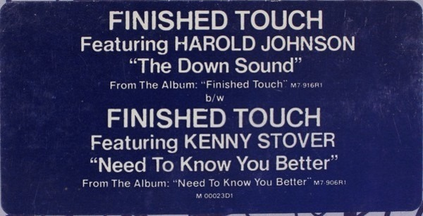 FINISHED TOUCH - The Down Sound - 12 inch x 1