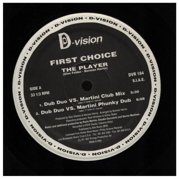 FIRST CHOICE - The Player (1997 Italian Mixes) - Maxi x 1