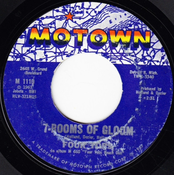 Four Tops 7-Rooms Of Gloom / I'll Turn To Stone