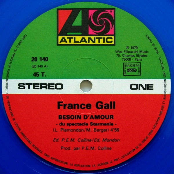 France Gall Besoin D'Amour (BLUE TRANSLUCENT)