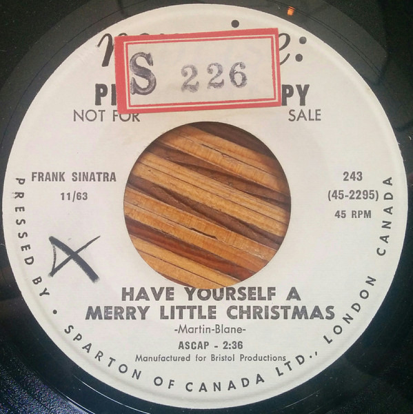 frank sinatra les baxters balladeers have yourself a merry little christmas record - Have Yourself A Merry Little Christmas Frank Sinatra