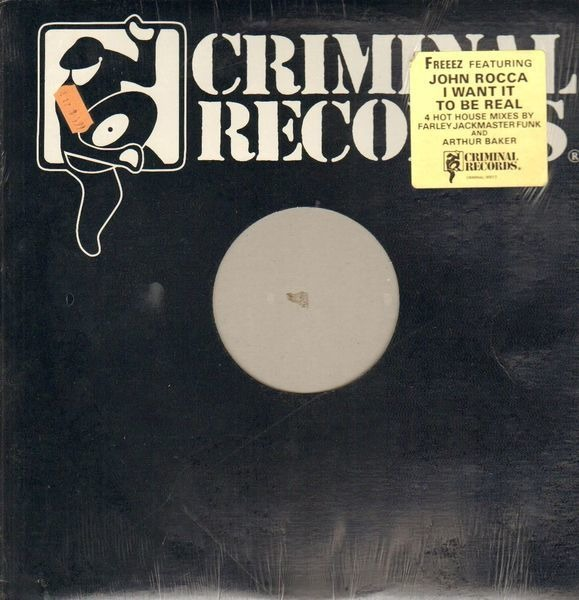 FREEEZ FEATURING JOHN ROCCA - I Want It To Be Real - 12 inch x 1
