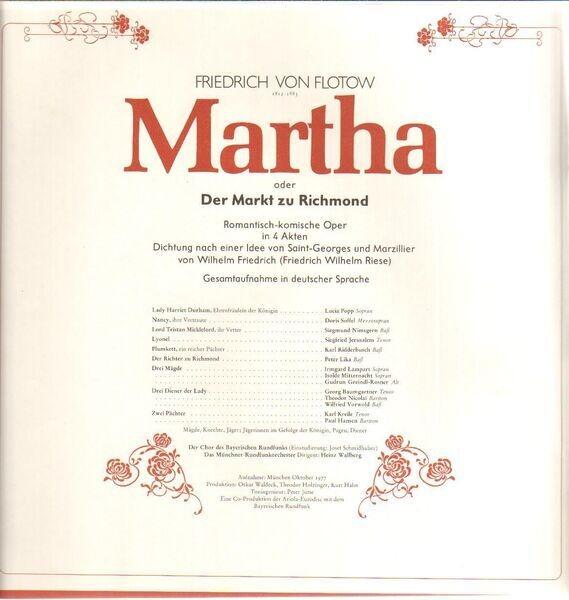 Friedrich von Flotow/Das Münchner Rundfunkorcheste Martha (BOOKLET WITH LIBRETTO)