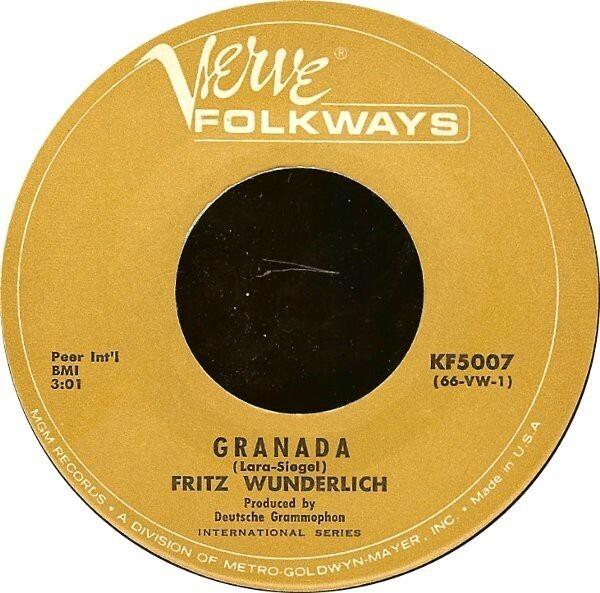 #<Artist:0x007f97771be7f0> - Granada / I Kiss Your Hand, Madame