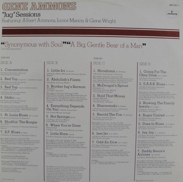 Gene Ammons 'Jug' Sessions (MONO)