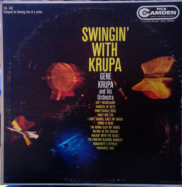 GENE KRUPA AND HIS ORCHESTRA - Swingin' With Krupa - LP