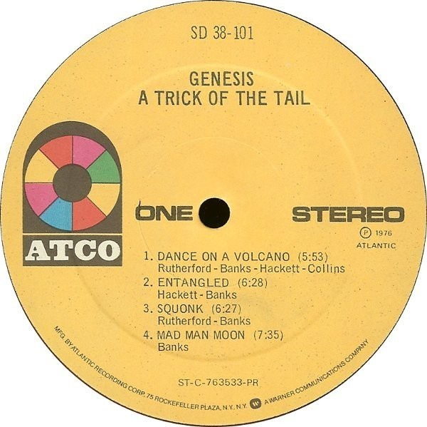 A trick of the tail by Genesis, LP with recordsale