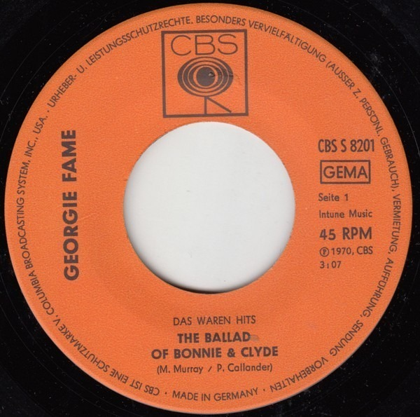 Georgie Fame / Georgie Fame And Alan Price The Ballad Of Bonnie & Clyde / Rosetta