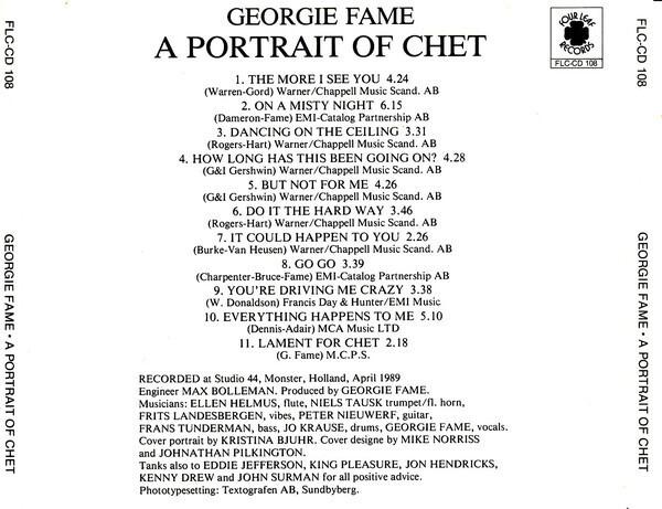 Georgie Fame A Portrait Of Chet