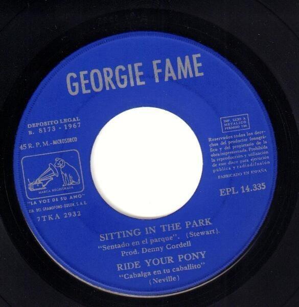 Georgie Fame Sitting In The Park (ORIGINAL SPANISH EP)
