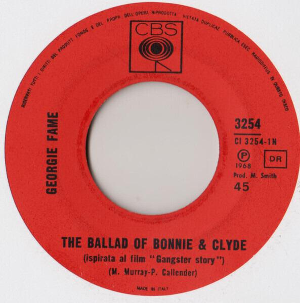 Georgie Fame The Ballad Of Bonnie & Clyde
