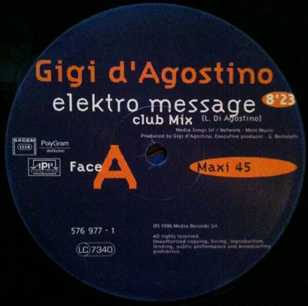 Gigi D Agostino Vinyl 252 Lp Records Cd Found On Cdandlp