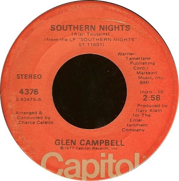 Glen Campbell Southern Nights Vinyl Records Lp Cd On