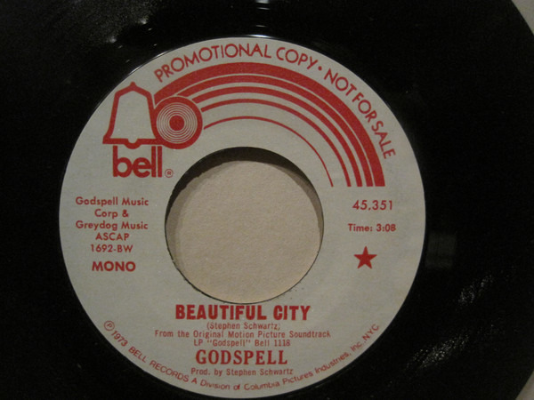 'GODSPELL' COMPANY - Beautiful City - 45T x 1
