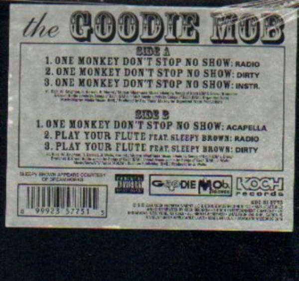 One Monkey Dont Stop No Show Goodie Mob Double Lp 12